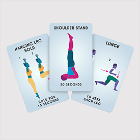 100 exercises cards