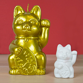 Lucky Cat Candle