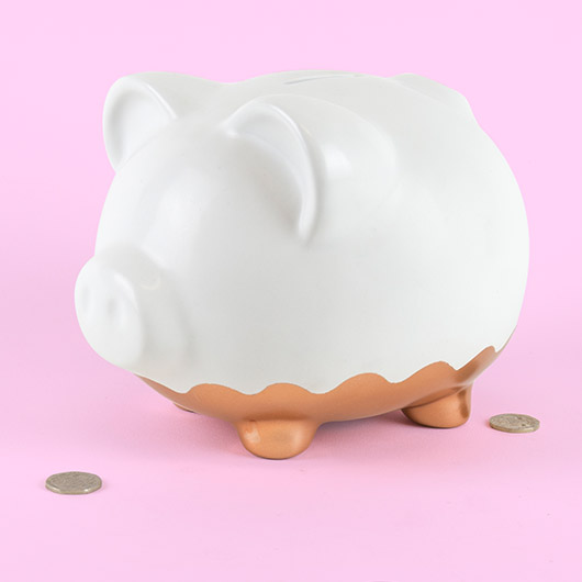 Rose Gold Piggy Bank