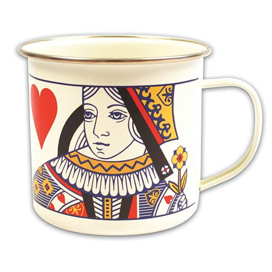 Queen of Hearts Enamel Mug