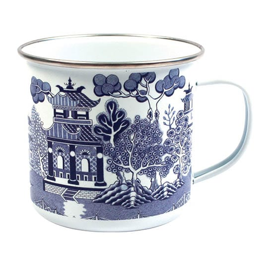 Blue Willow Enamel Mug