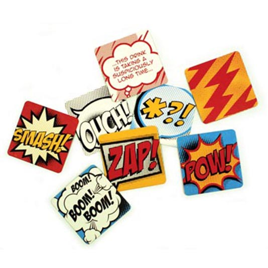 COMIC BOOK - Comic Coasters
