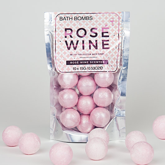 Rosé bath bombs