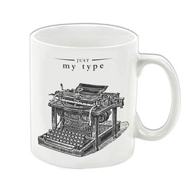 Just My Type Porcelain Mug