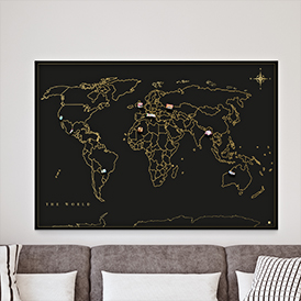 Magnetic Travel Map
