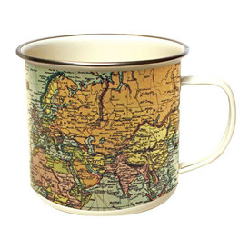 Map Enamel Mug