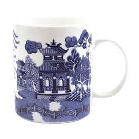 Blue Willow Bone China Mug