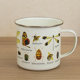 insects enamel mug