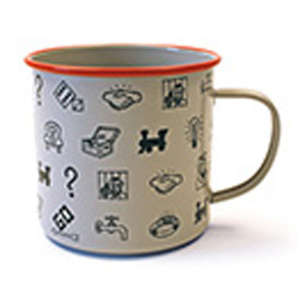 icon repeat enamel mug