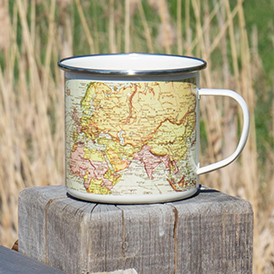 man of the world pale enamel mug