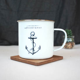 The Adventurer Enamel Mug