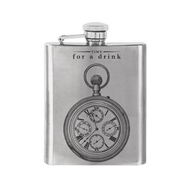 Time For A Drink Hip Flask