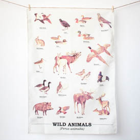 Wild Animals Tea Towel