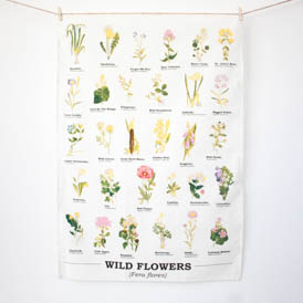 Wild Flowers Tea Towel