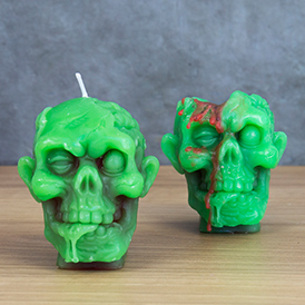 Zombie Head Candle